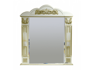 Мебель для ванной Misty Барокко 80 Зеркало бежевое патина Л-Бар02080-033