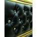 Тумба под раковину Misty Bogema 100 с 2-мя ящиками черный кожа золото Л-Бог01100-5792Я