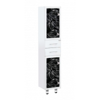 Шкаф - пенал Misty Боливия Пенал - 35 прав.белый (черная ночь) Л-Бол05035-235П
