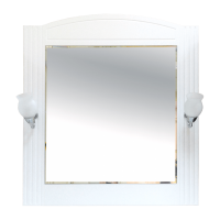 Зеркало Misty Эльбрус - 80 Зеркало белая эмаль П-Эль02080-011
