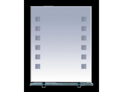 Мебель для ванной Misty Эллада - 60 Зеркало с полочкой (свет) П-Элл03060-Св