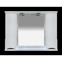 Misty Элвис -105 Зеркало-шкаф (свет) белая эмаль П-Элв-01105-011