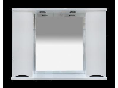 Мебель для ванной Misty Элвис -105 Зеркало-шкаф (свет) белая эмаль П-Элв-01105-011