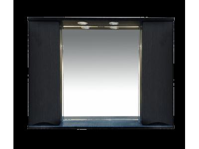 Мебель для ванной Misty Элвис -105 Зеркало-шкаф (свет) венге П-Элв-01105-052