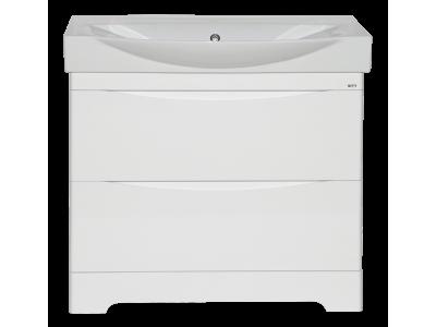 Мебель для ванной Misty Элвис - 85 Тумба напольная с 2 ящ. белая эмаль П-Элв01085-0112Я