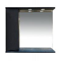 Misty Элвис - 85 Зеркало-шкаф лев. (свет) венге П-Элв-01085-052Л