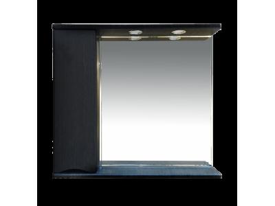 Мебель для ванной Misty Элвис - 85 Зеркало-шкаф лев. (свет) венге П-Элв-01085-052Л