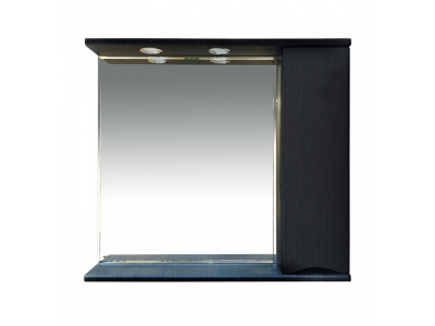 Мебель для ванной Misty Элвис - 85 Зеркало-шкаф прав. (свет) венге П-Элв-01085-052П