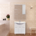 Мебель для ванной Misty Флори  85 Зеркало-шкаф  (свет)  прав. Э-Флр04085-011СвП