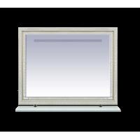 Зеркало Misty Fresko 120 краколет белый патина Л-Фре03120-0117