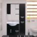 Мебель для ванной Misty Глория 75 зеркало - шкаф лев. (свет) ВЕНГЕ П-Гло02075-03СвЛ