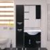 Мебель для ванной Misty Глория Пенал- 35 лев. ВЕНГЕ с корзиной П-Гло05035-03БкЛ