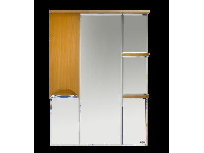 Мебель для ванной Misty Глория 75 зеркало - шкаф лев. (свет) БУК П-Гло02075-18СвЛ