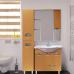 Мебель для ванной Misty Глория 75 зеркало - шкаф прав. (свет) БУК П-Гло02075-18СвП