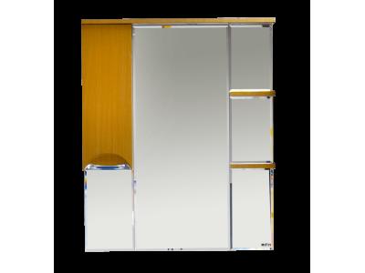 Мебель для ванной Misty Глория 85 зеркало - шкаф лев. (свет) БУК П-Гло02085-18СвЛ