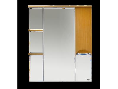 Мебель для ванной Misty Глория 85 зеркало - шкаф прав. (свет) БУК бук П-Гло02085-18СвП