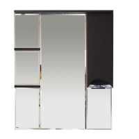 Misty Глория 85 зеркало - шкаф прав. (свет) ВЕНГЕ П-Гло02085-03СвП