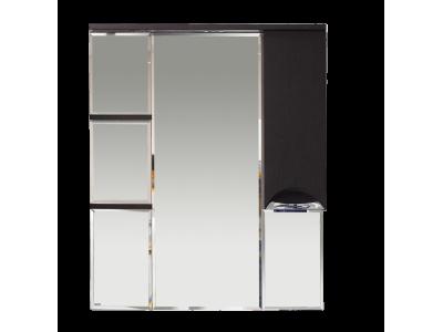 Мебель для ванной Misty Глория 85 зеркало - шкаф прав. (свет) ВЕНГЕ П-Гло02085-03СвП