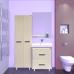 Мебель для ванной Misty Джулия - 65 Зеркало  с полочкой 12 мм бежевое Л-Джу03065-0310