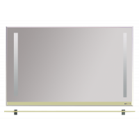 Зеркало Misty Джулия -120 Зеркало с полочкой 8 мм бежевое Beidge Л-Джу03120-5310