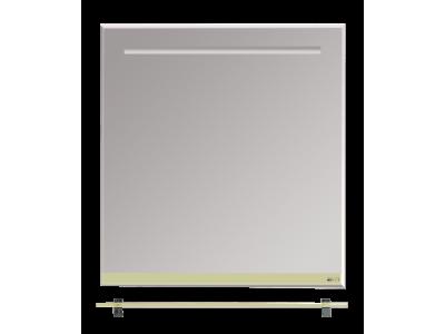 Мебель для ванной Misty Джулия - 75 Зеркало  с полочкой 12 мм бежевое Л-Джу03075-0310