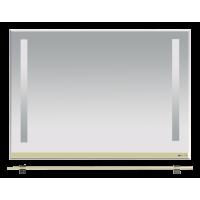 Misty Джулия -105 Зеркало с  полочкой 12 мм бежевое Л-Джу03105-0310