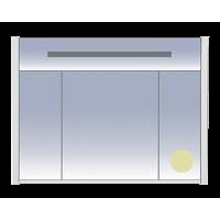 Зеркальный шкаф Misty Джулия -105 Шкаф бежевый Beidge зеркальный Л-Джу04105-5310