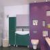 Мебель для ванной Misty Джулия - 65 Зеркало с полочкой 12 КРАКОЛЕТ зеленый Л-Джу03065-0813