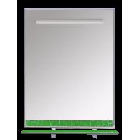 Misty Джулия - 65 Зеркало с полочкой 12 КРАКОЛЕТ зеленый Л-Джу03065-0813