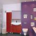 Мебель для ванной Misty Джулия - 30 Пенал левый КРАКОЛЕТ красный Л-Джу05030-0413Л
