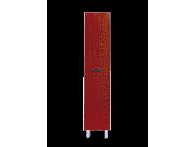 Мебель для ванной Misty Джулия - 30 Пенал правый КРАКОЛЕТ красный Л-Джу05030-0413П