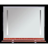 Зеркало Misty Джулия -105 Зеркало с полочкой 12 КРАКОЛЕТ красный Л-Джу03105-0413