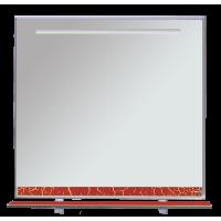 Зеркало Misty Джулия - 85 Зеркало с полочкой 12 КРАКОЛЕТ красный Л-Джу03085-0413