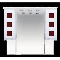 Зеркальный шкаф Misty Кармен -100 Зеркало-шкаф бел.плен/красн.стекло П-Крм04100-2615