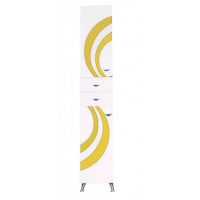 Шкаф - пенал Misty Каролина 35 L желтый витраж П-Крл05035-315Л