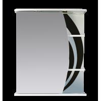 Зеркальный шкаф Misty Каролина 60 L черный П-Крл02060-235СвЛ