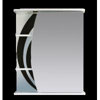 Зеркальный шкаф Misty Каролина 60 R черный П-Крл02060-235СвП