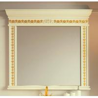 Зеркало Misty Мануэлла GOLD 120 бежевое глянец Л-Ман02120-3818Св