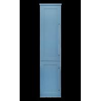 Шкаф - пенал Misty Марта 35 пенал голубой мат. левый с Б/К П-Мрт05035-061Л