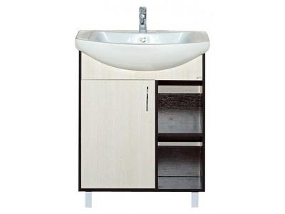 Мебель для ванной Misty Браво - 60 Тумба комбинированная Э-Бра01060-19