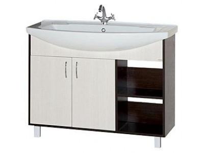 Мебель для ванной Misty Браво 105 Тумба комбинированная Э-Бра01105-19
