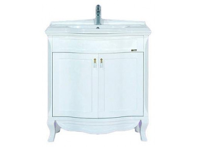 Мебель для ванной Misty Дайна - 85 тумба прямая белая П-Дай01085-011Пр