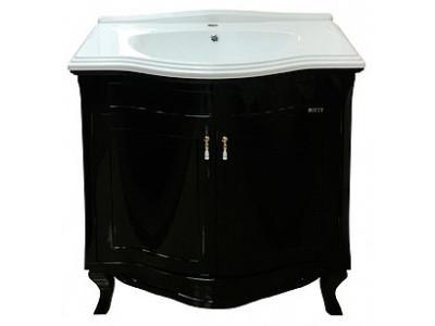 Мебель для ванной Misty Дайна 85 черная П-Дай01085-021Пр