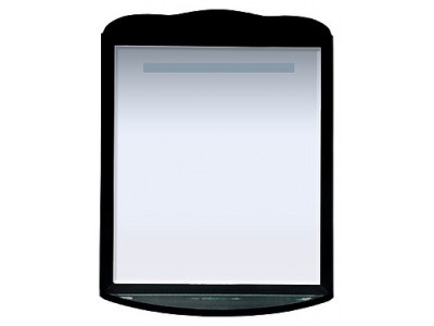 Мебель для ванной Misty Дайна - 85 зеркало свет чёрное П-Дай02085-021Св