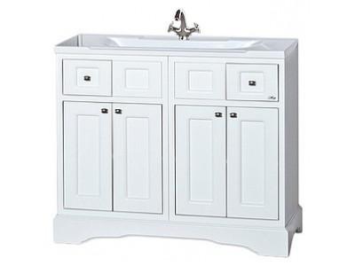 Мебель для ванной Misty Герда -100 Тумба с 2 ящ. белая эмаль П-Гер01100-0112Я