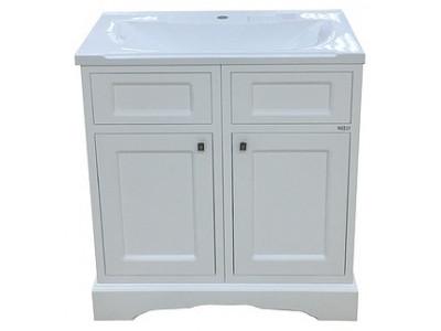 Мебель для ванной Misty Герда - 80 Тумба  белая эмаль П-Гер01080-011