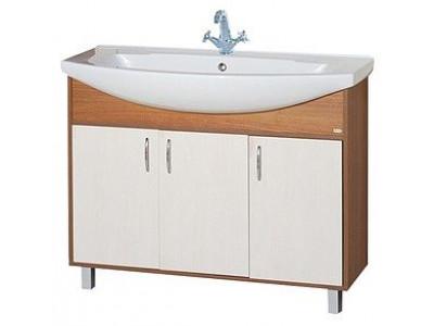 Мебель для ванной Misty Лада -105 Тумба комбинированная Э-Лда01105-19