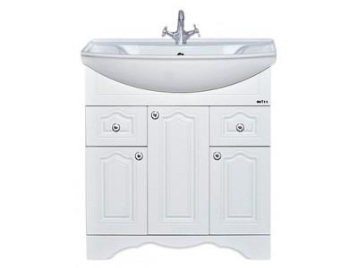 Мебель для ванной Misty Валерия - 75 Тумба с 2 ящ. белая фактур. П-Влр01075-372Я