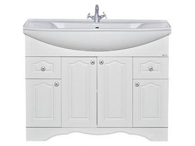 Мебель для ванной Misty Валерия -105 Тумба с 2 ящ. белая фактур. П-Влр01105-372Я