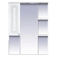 Misty Валерия - 75 зеркало - шкаф белое фактур. левое со светом П-Влр02075-37СвЛ
